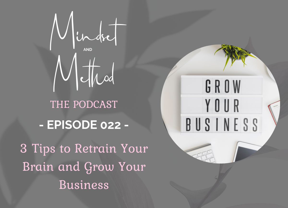 Podcast 022 - 3 Tips to Retrain Your Brain & Build Your Business